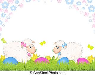 páscoa, sheep
