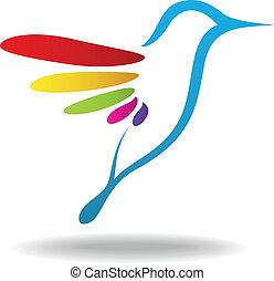 pássaro, ícone