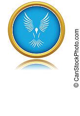 pássaro azul, ícone
