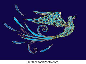 pássaro azul