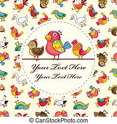 pássaro, cartão