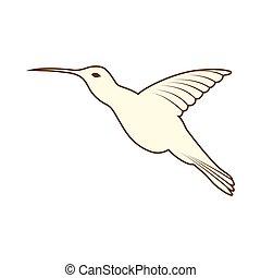 pássaro, esboço