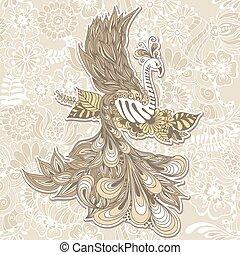 pássaro, phoenix, menndi