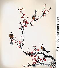 pássaro, quadro