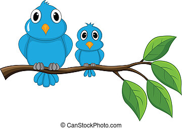 pássaro, ramo, sentando