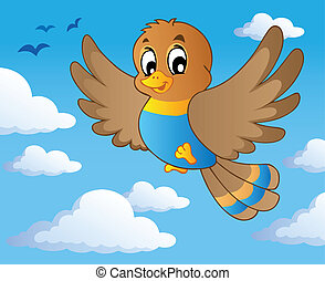 pássaro, tema, imagem, 1