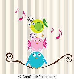 pássaros, ícones