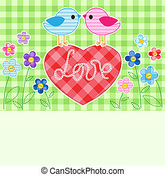 pássaros, amor