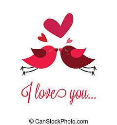 pássaros, apaixonadas