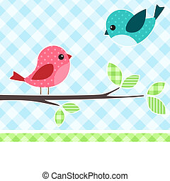 pássaros, ramo