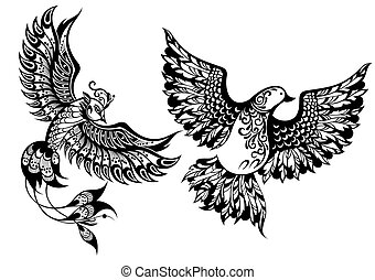 pássaros, símbolos