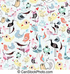 pássaros, textura