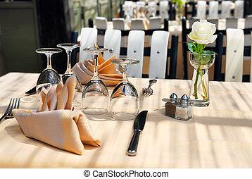 pátio, restaurante