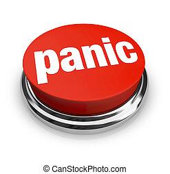 pânico, -, botão vermelho