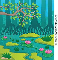 pântano, tema, 2, imagem