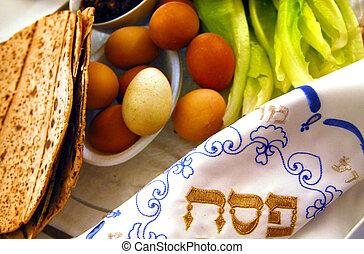 pâque, seder, dîner, célébrations