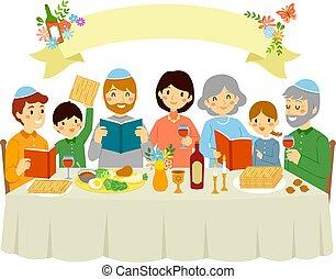 pâque, veille, famille