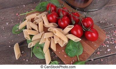 pâtes, tomates, italien