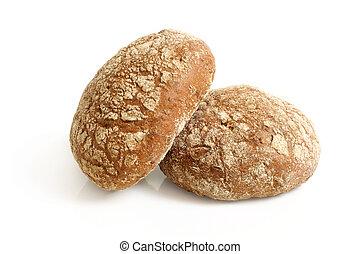 pães, centeio, redondo