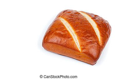 pães, isolado, branco, fundo