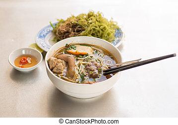 pão, bo, tom, -, vietnamita, noodle