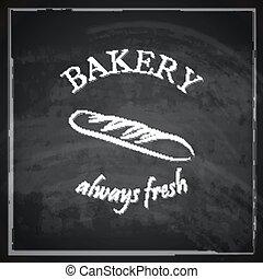 pão, conceito, vindima, ilustração, experiência.,...