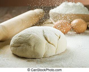 pão, cooking., massa