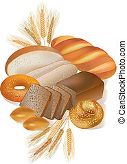 pão, e, panificadora, produtos