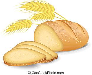 pão, enfiado