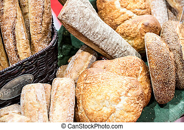 pão, exposição, artesão