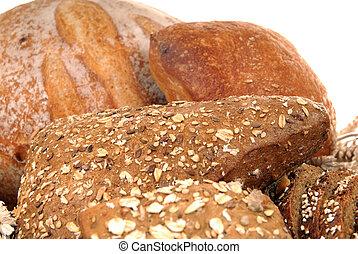 pão, exposição, variado
