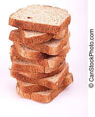 pão, fatias