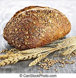 pão, multigrain, pão