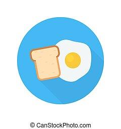 pão, ovo, ícone