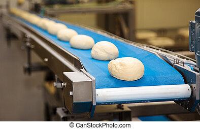 pão, panificadora, alimento, factory.