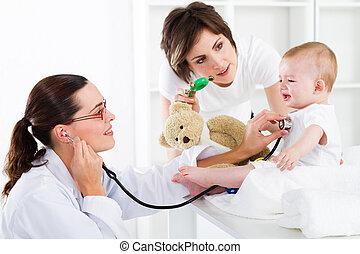 pädiatrisch, sorgfalt