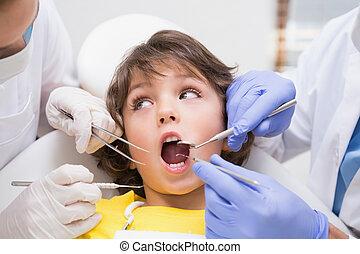 pädiatrisch, zahnarzt, untersuchen