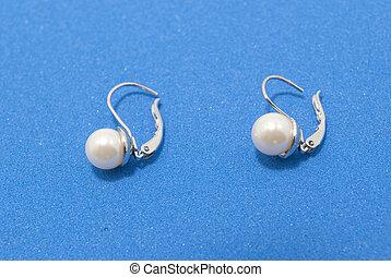 pärla, örhängen