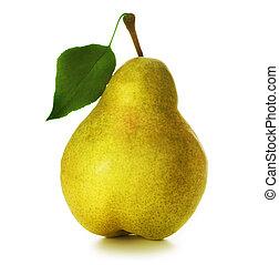 päron, över, vit