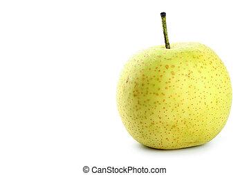 päron, isolerat, vita