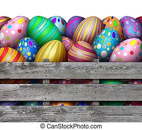 påsk ägg jaga, skörd