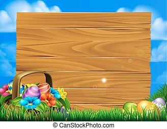 påsk eggar, korg, underteckna
