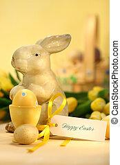 påsk eggar, med, kanin