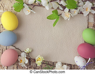 påsk eggar, och, tom, anteckna