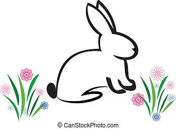 påsk kanin, illustration