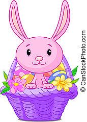 påsk kanin, korg