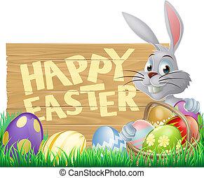 påsk kanin, lycklig