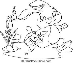 påsk kanin, nederlag, ägg