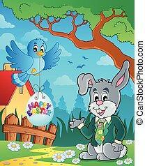 påsk kanin, tema, avbild, 3