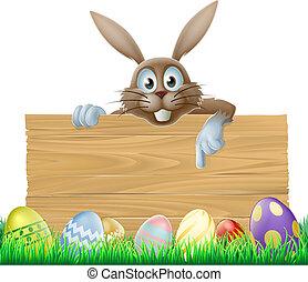 påsk kanin, underteckna